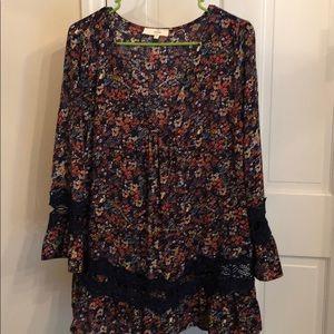 Entro gypsy blouse multi color
